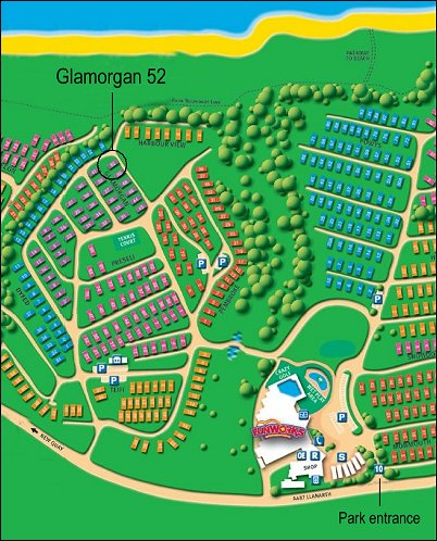 Glamorgan 44 caravan location