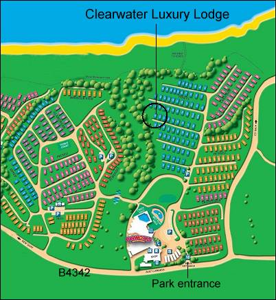 Clearwater Luxury Lodge location