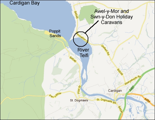 Swn-y-Don Caravan location